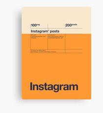 Social Media Medizin Pack - Instagram Leinwanddruck