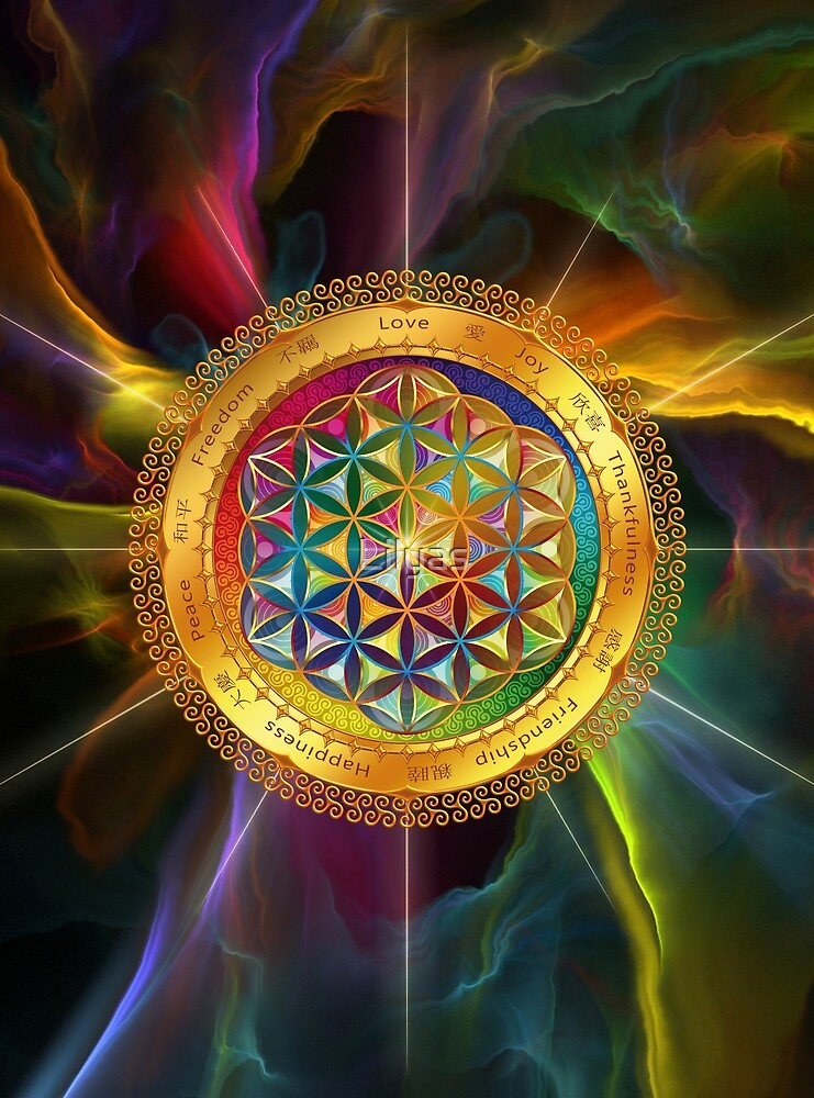 The Flower of Life - dark by Lilyas