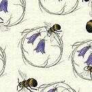 Bee Around on cream by henryflorence