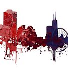 Chicago - Painted Skylines by DigitalShards
