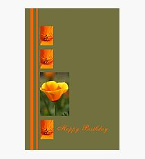 Happy Birthday - Orange flowers Photographic Print