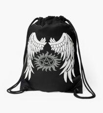 Übernatürliche Flügel und Logo Rucksackbeutel