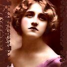 framed vintage lady by cynthiab