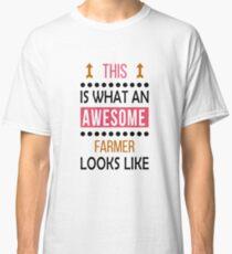 92b1a5a511 Camiseta clásica Granjero impresionante miradas cumpleaños navidad gracioso