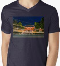 Orange Temple V-Neck T-Shirt
