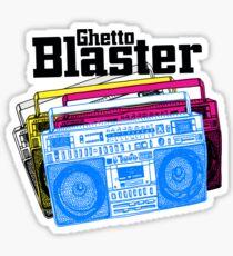 Ghetto Blaster Sticker