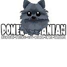 Pomeranian (Black) - DGBigHead by DoggyGraphics