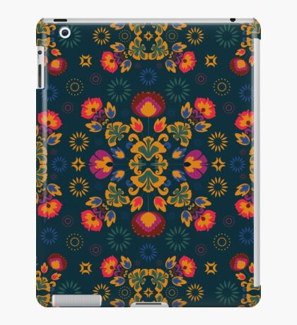 Fiesta Folk Blue #redbubble #folk iPad Case/Skin