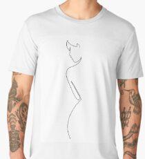 Minimalist female line art Men's Premium T-Shirt