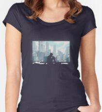 Geist in der Muschel Tailliertes Rundhals-Shirt