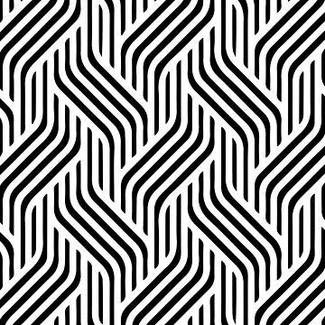Minimal geometric pattern  by adelemawhinney