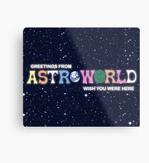 Greeting from Astroworld - Wish you were here Metal Print