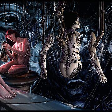 Cyberpunk Painting 094 by Sokoliwski