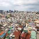 Aerial view over Ho Chi Minh City by Chris Putnam