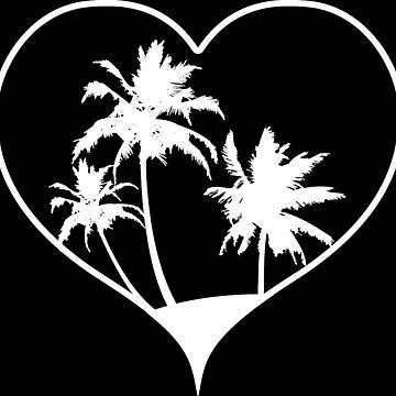Holiday palm trees with heart by RetroFuchs