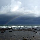 Rainbow over the Sea by allabouther