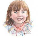 granddaughter watercolor by Mike Theuer