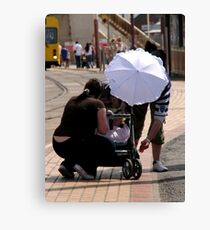 Darling! your new sunhat is scaring the baby! Canvas Print