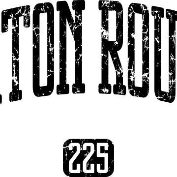 Baton Rouge 225 (Black Print) by smashtransit