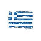 Greek Flag Distressed by Anartsysoul