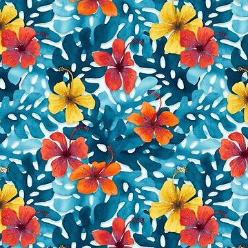 Tropical Hibiscus Pattern Summer by artlovepassion