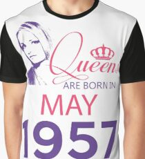 It's My Birthday 61. Made In May 1957. 1957 Gift Ideas. Graphic T-Shirt