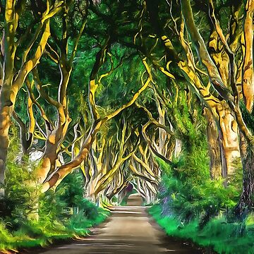 The Dark Hedges, Ireland. (Painting) by cmphotographs