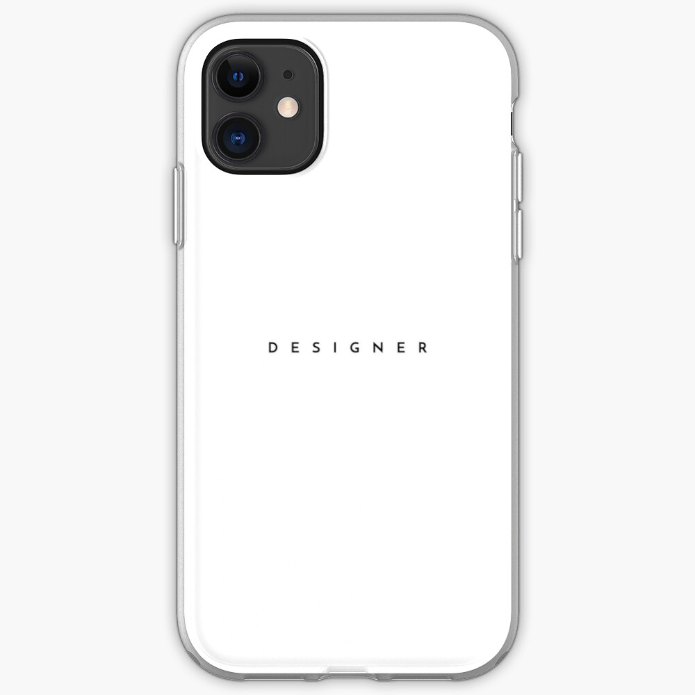 Designer (minimal) (Inverted) iPhone Case & Cover