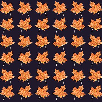 Fall Maple Leaf Pattern by erika-lancaster