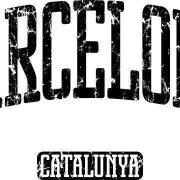 Barcelona (Black Print) by smashtransit