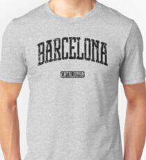 Barcelona (Black Print) Unisex T-Shirt