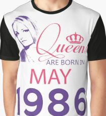It's My Birthday 32. Made In May 1986. 1986 Gift Ideas. Graphic T-Shirt
