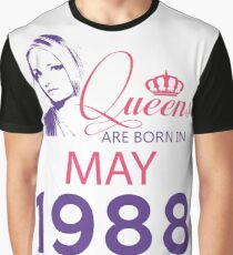 It's My Birthday 30. Made In May 1988. 1988 Gift Ideas. Graphic T-Shirt