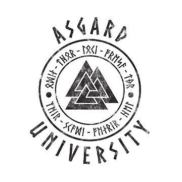 Viking Asgard University Design by MightyOwlDesign