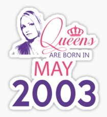 It's My Birthday 15. Made In May 2003. 2003 Gift Ideas. Sticker