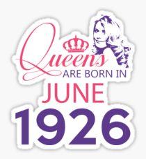 It's My Birthday 92. Made In June 1926. 1926 Gift Ideas. Sticker