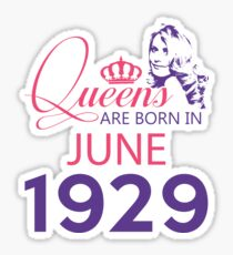 It's My Birthday 89. Made In June 1929. 1929 Gift Ideas. Sticker