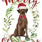 « Joyeux Noël Chocolat Labrador » par anabellstar