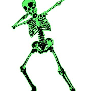 skeleton Dabbing dab dab Halloween horror pop art by Collagedream