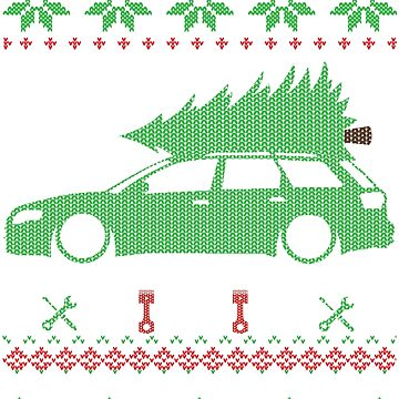A4 S4 RS4 B7 Avant Christmas Ugly Sweater by glstkrrn