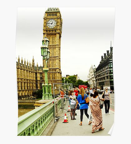Smile Please: Tourists and Big Ben Poster