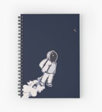 Brian The Poostronaut Evacuates To Outer Space Spiral Notebook