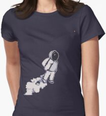 Brian The Poostronaut Evacuates To Albireo Women's Fitted T-Shirt