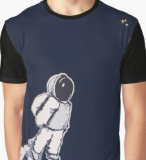 Brian The Poostronaut Evacuates To Outer Space Graphic T-Shirt