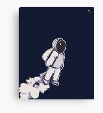 Brian The Poostronaut Evacuates To Outer Space Canvas Print