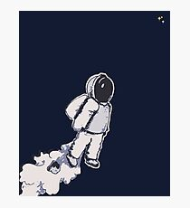 Brian The Poostronaut Evacuates To Outer Space Photographic Print