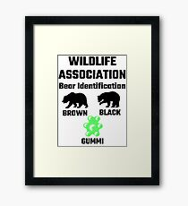 Wildlife Association Bear Identification Framed Print