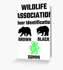 Wildlife Association Bear Identification Greeting Card