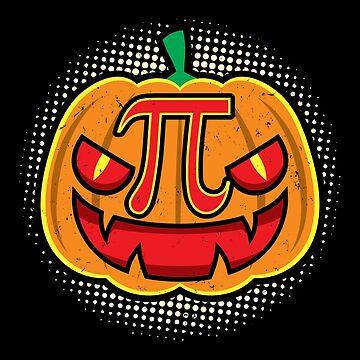 Pumpkin Pie Halloween Pumpkin Pi Math Algebra Mathematics Shirts and Stickers by Joeby26