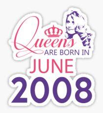 It's My Birthday 10. Made In June 2008. 2008 Gift Ideas. Sticker
